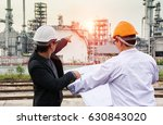 refinery workers discussion and ... | Shutterstock . vector #630843020