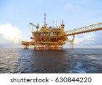offshore construction platform... | Shutterstock . vector #630844220