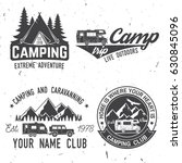 camper and caravaning club.... | Shutterstock .eps vector #630845096