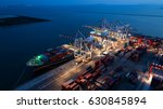 container container ship in... | Shutterstock . vector #630845894