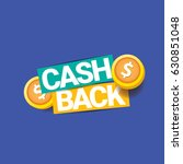 vector cash back icon isolated... | Shutterstock .eps vector #630851048