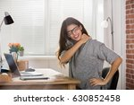 young attractive businesswoman... | Shutterstock . vector #630852458