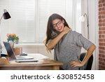 young attractive businesswoman... | Shutterstock . vector #630852458