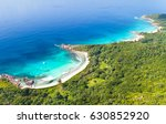 white sand beach and turquoise... | Shutterstock . vector #630852920