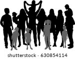 vector silhouette of family... | Shutterstock .eps vector #630854114
