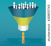 lead generation and lead... | Shutterstock .eps vector #630855743