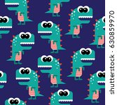 seamless vector pattern with... | Shutterstock .eps vector #630859970