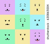 a vector set of colorful... | Shutterstock .eps vector #630865004