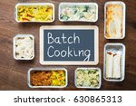 Batch Cooking Text Written On...