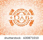dab abstract emblem  orange... | Shutterstock .eps vector #630871010