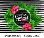 vector illustration of summer... | Shutterstock .eps vector #630872258