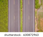aerial top view over the road...   Shutterstock . vector #630872963
