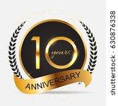 template 10 years anniversary... | Shutterstock .eps vector #630876338