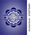 guaranteed results badge with... | Shutterstock .eps vector #630878684