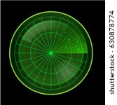 green radar screen on black... | Shutterstock .eps vector #630878774