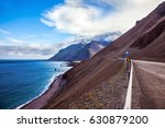 iceland in july. the road along ... | Shutterstock . vector #630879200