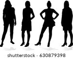 silhouette of a woman. | Shutterstock .eps vector #630879398