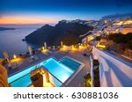 swimming pool on the hotel... | Shutterstock . vector #630881036