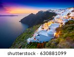 fira town on santorini island ... | Shutterstock . vector #630881099