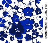 vector floral watercolor... | Shutterstock .eps vector #630882140