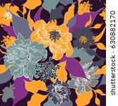 vector floral watercolor... | Shutterstock .eps vector #630882170