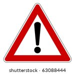 red traffic triangle warning... | Shutterstock . vector #63088444