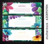 template design horizontal... | Shutterstock .eps vector #630890984