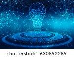 bulb future technology ...   Shutterstock . vector #630892289