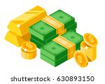 isometric dollars bundles with... | Shutterstock .eps vector #630893150
