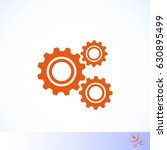 gear icon vector  flat design... | Shutterstock .eps vector #630895499
