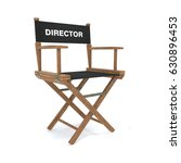 director's chair isolated on... | Shutterstock . vector #630896453