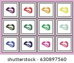 colorful lips | Shutterstock .eps vector #630897560