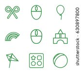 colorful icons set. set of 9... | Shutterstock .eps vector #630897800
