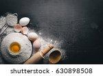 preparation for baking. eggs... | Shutterstock . vector #630898508
