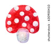 cartoon abstract watercolor red ... | Shutterstock . vector #630900410