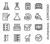 test icons set. set of 16 test... | Shutterstock .eps vector #630902060