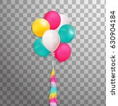 bunch of colorful balloons... | Shutterstock .eps vector #630904184