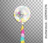 realistic big transparent... | Shutterstock .eps vector #630904196
