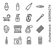 cosmetic icons set. set of 16... | Shutterstock .eps vector #630904274