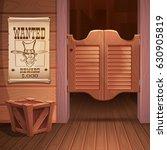 wild west background scene  ... | Shutterstock .eps vector #630905819