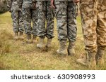 low section of military... | Shutterstock . vector #630908993