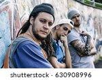 three rap singers in a subway... | Shutterstock . vector #630908996