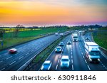 Colourful Sunset At M1 Motorway ...