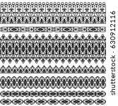 set of black borders isolated...   Shutterstock . vector #630912116