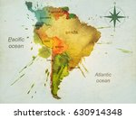 south america hand drawn... | Shutterstock . vector #630914348