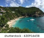shell beach at st.barth island. ... | Shutterstock . vector #630916658