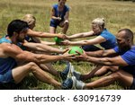 fit people performing core... | Shutterstock . vector #630916739