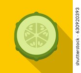 slice of fresh cucumber icon.... | Shutterstock .eps vector #630920393