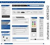 website web design element... | Shutterstock .eps vector #63092242