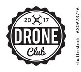 drone flying club badge label.... | Shutterstock .eps vector #630923726